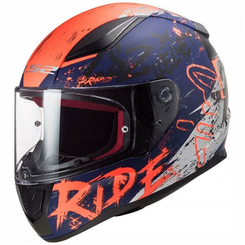 Шлем LS2 FF353 Rapid Naughty Blue/Orange