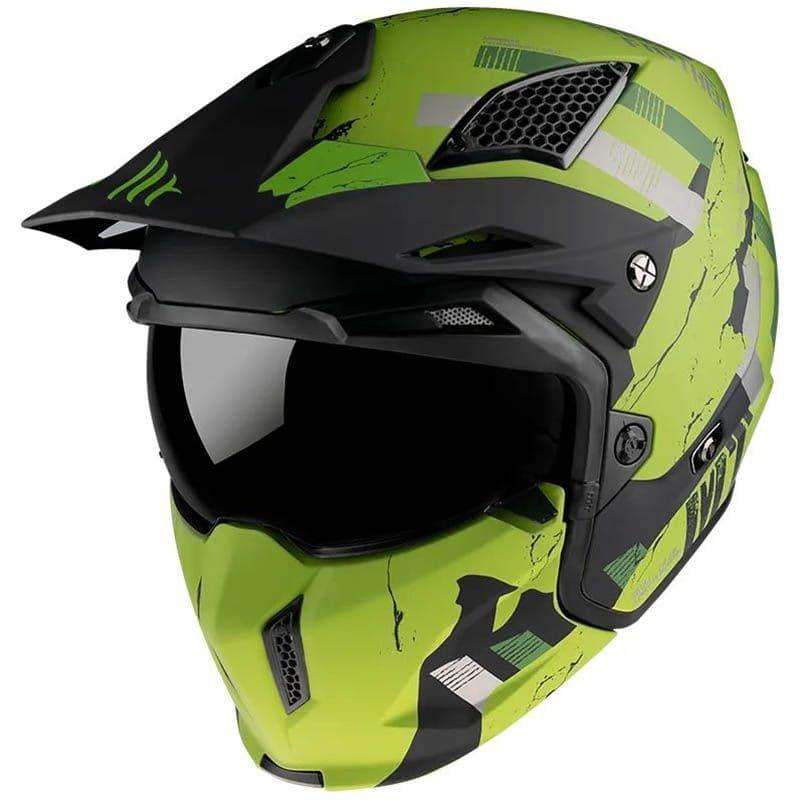 Шлем MT Streetfighter SV Skull Green