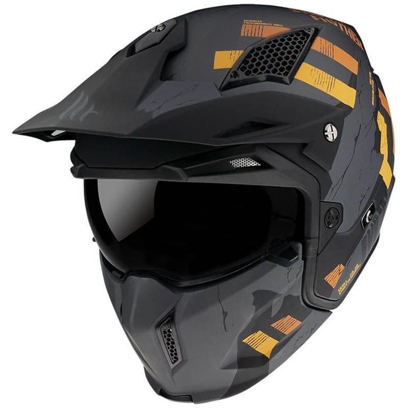 Шлем MT Streetfighter SV Skull Grey