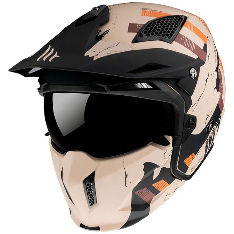 Шлем MT Streetfighter SV Skull Orange