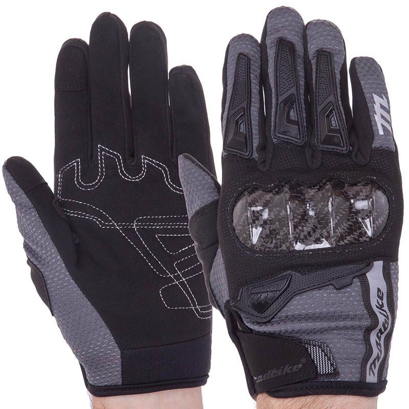 Мотоперчатки MAD Bike TF-02 Black/Grey