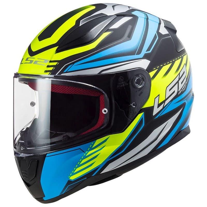 Шлем LS2 FF353 Rapid Gale Blue/Yellow