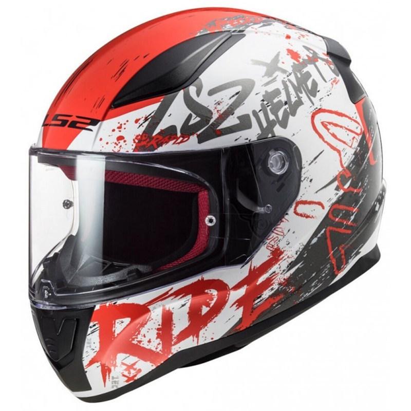 Шлем LS2 FF353 Rapid Naughty White/Red