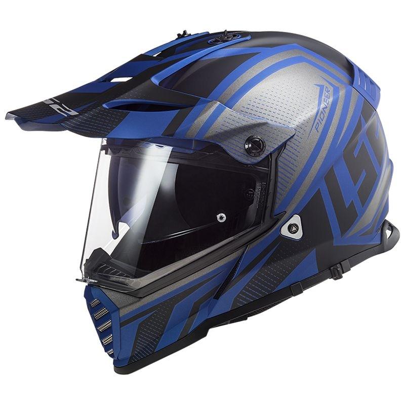 Шлем LS2 MX436 Pioneer EVO Master Blue/Grey