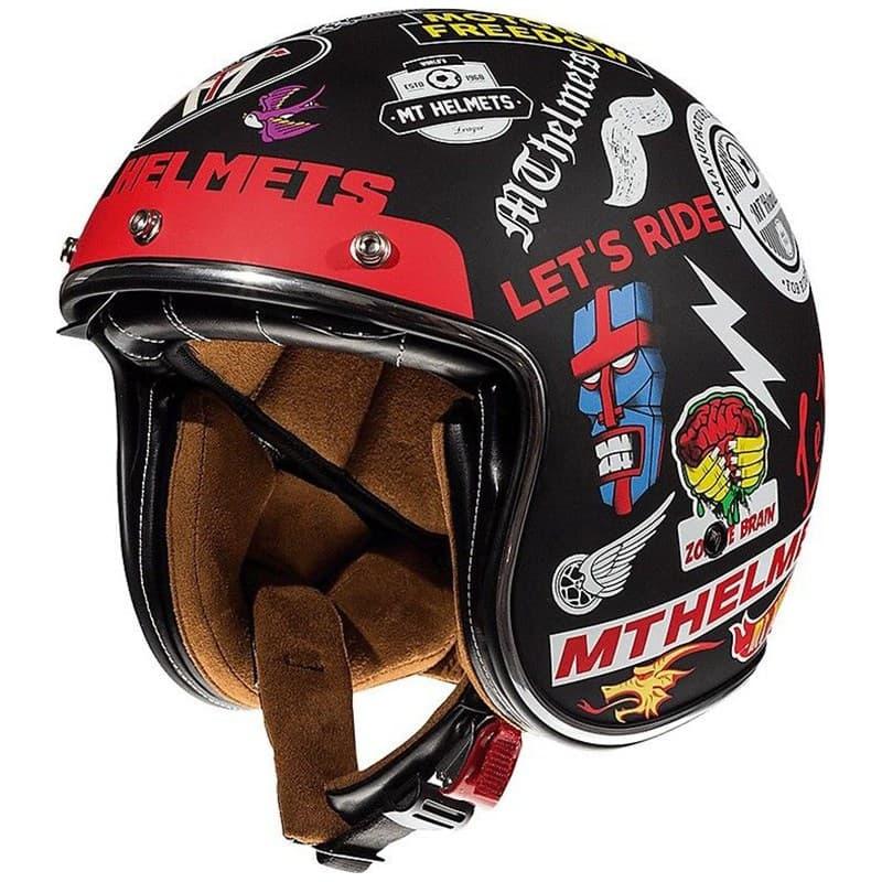 Мотошлем MT Jet Le Mans 2 SV Anarchy Black/Multicolor