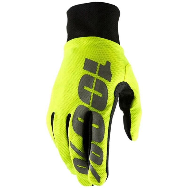 Мотоперчатки Ride 100% Brisker Hydromatic Waterproof Neon Yellow